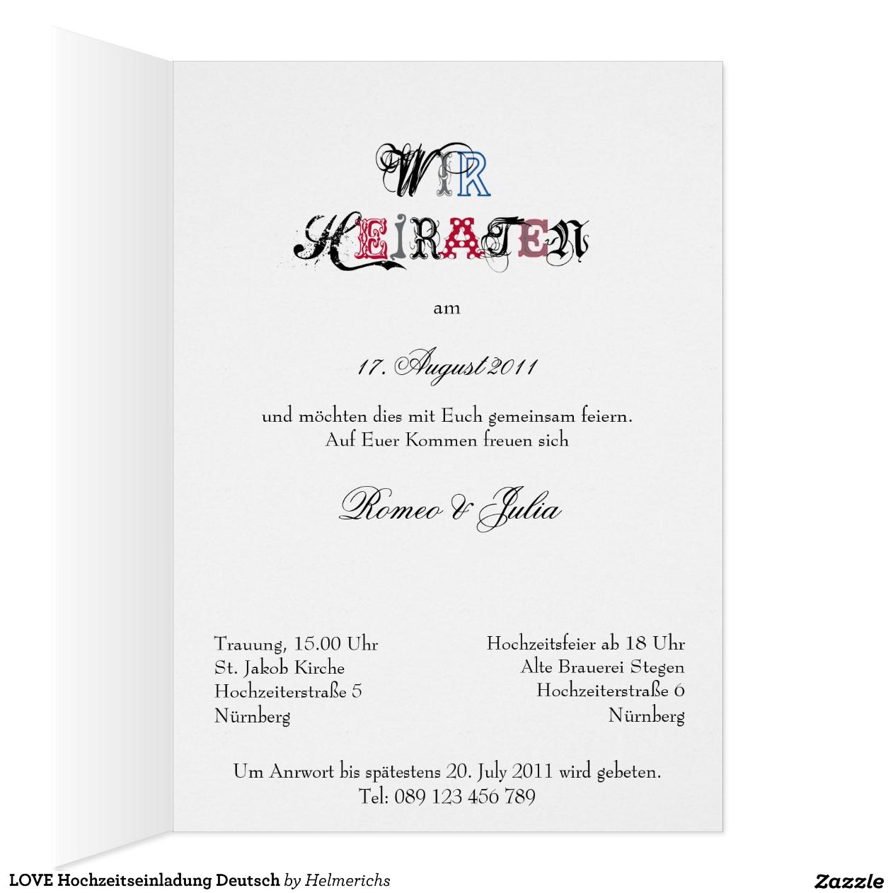 Hochzeits-Einladung Styles