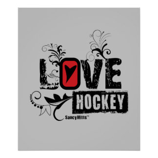 Love Hockey Swirl Poster