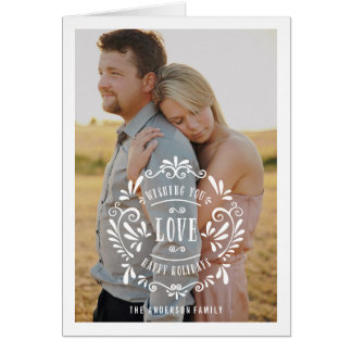 Love Holiday Photo Greeting Card