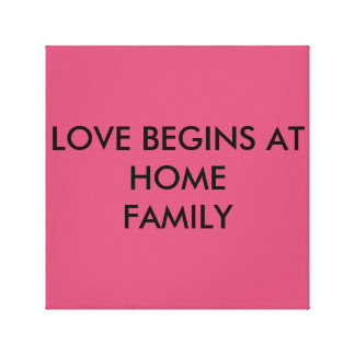 LOVE HOME CANVAS GALLERY WRAPPED CANVAS