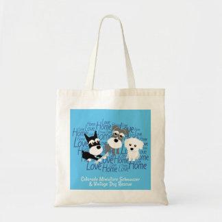 Love, Home - Schnauzer Tote Bag (Blue)