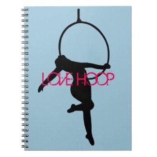 LOVE HOOP Aerial Hoop / Lyra Silhouette Note Book