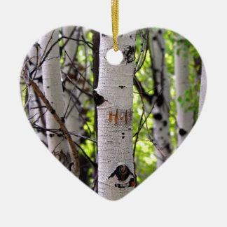 Love, Hope and Faith Ceramic Heart Ornament
