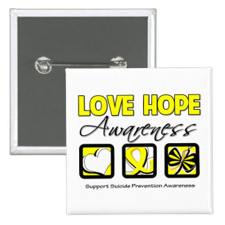 Love Hope Awareness Suicide Prevention Buttons