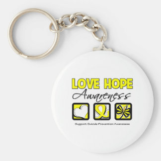 Love Hope Awareness Suicide Prevention Keychains