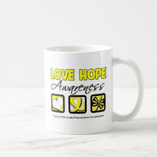 Love Hope Awareness Suicide Prevention Basic White Mug