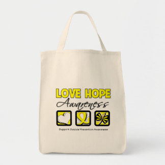 Love Hope Awareness Suicide Prevention Tote Bag