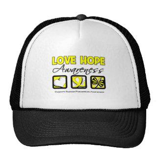 Love Hope Awareness Suicide Prevention Trucker Hat