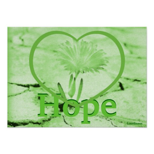 Love Hope Blooming Green Earth Poster-Cust.