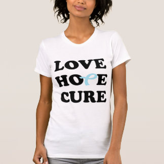 Love Hope Cure Blue Prostate Cancer ribbon t-shirt