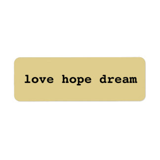 Love, hope, dream sticker DIY mixed media craft
