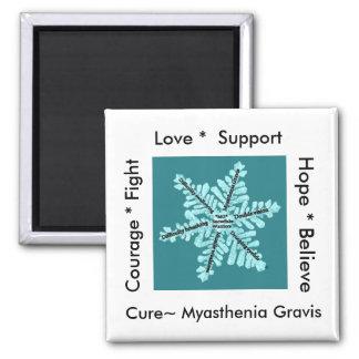 Love/ Hope/ Fight / Cure - Myasthenia Awareness Magnet