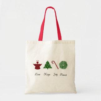 Love Hope Joy Peace Tote Bag