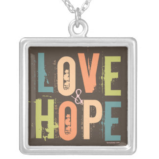 Love & Hope Silver Plated Necklace