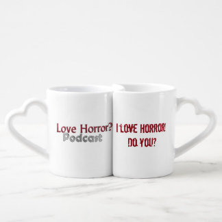 love Horror? Podcast Nesting Love Mugs Couples' Coffee Mug Set