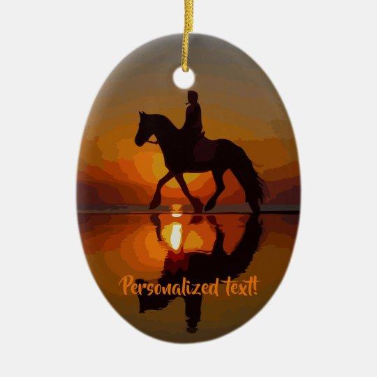Love Horses, Horseback Riding, Personalized gift Ceramic Ornament