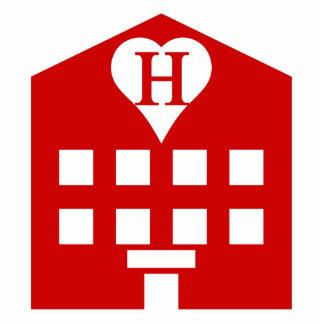 Love Hotel Japanese Emoji Standing Photo Sculpture