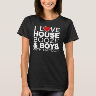 Love House Booze Boys Tattoos T-Shirt
