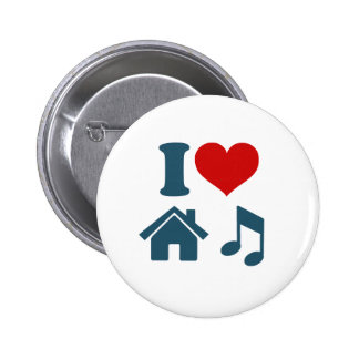 Love House Music 2 Inch Round Button
