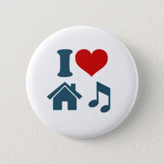 Love House Music Button (white)