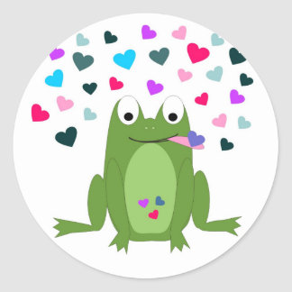 Love Hungry Frog Stickers