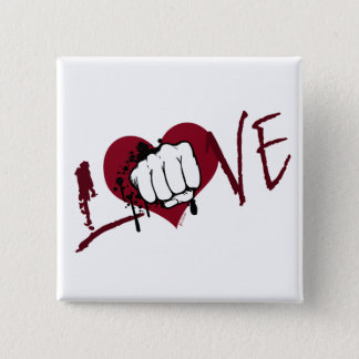 Love Hurts 2 Inch Square Button