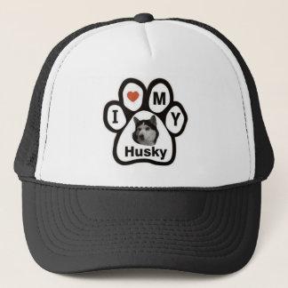 Love Husky Paw Trucker Hat