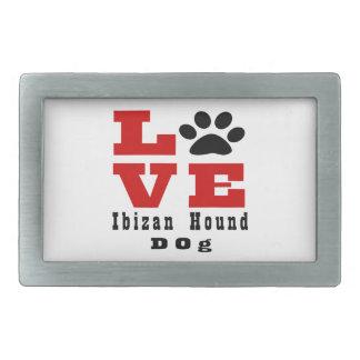 Love Ibizan Hound Dog Designes Belt Buckles