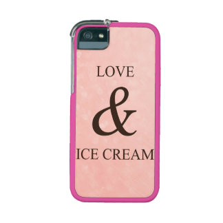 Love & ice cream iPhone 5/5S cover