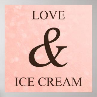Love & ice cream poster