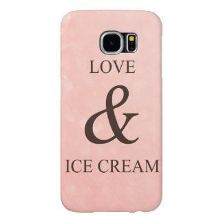 Love & ice cream samsung galaxy s6 cases