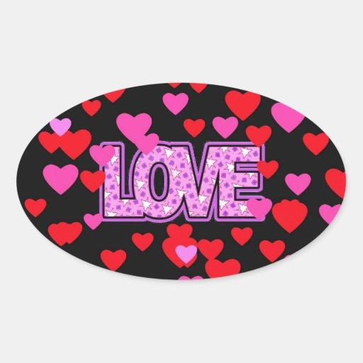 Love in a Sea of Hearts. Sticker