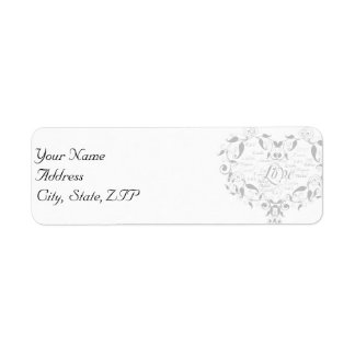 Love in Any Language in Silver Address Label
