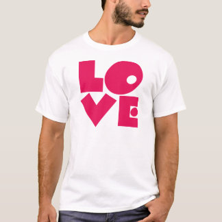 LOVE in Big Pink Letters T-Shirt