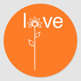Love in Bloom Customizeable Classic Round Sticker