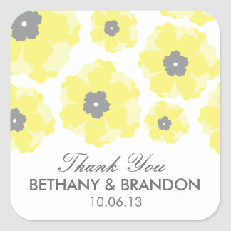 Love in Bloom Wedding Favor Stickers