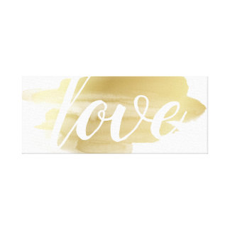 Love in Gold Smudge Canvas