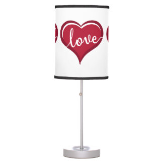 love in heart valentines table lamp