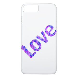 Love In Hearts Bright & Vivid | Purple, Blue, Pink iPhone 8 Plus/7 Plus Case