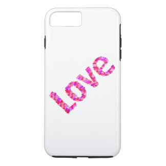 Love In Hearts Vivid & Bright | Pink, Red, Purple iPhone 8 Plus/7 Plus Case