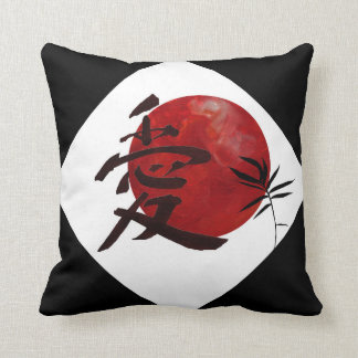 Love in Kanji Throw Pillow