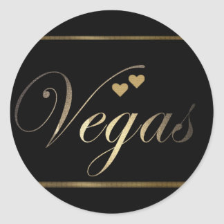 Love in Las Vegas Classic Round Sticker