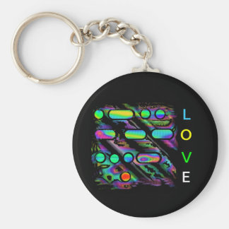LOVE in Morse Code Key Chain