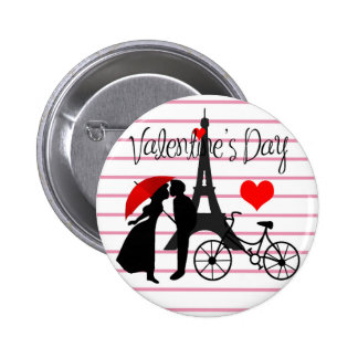 Love in Paris 2 Inch Round Button