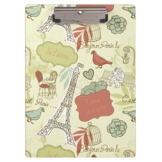 Love in Paris Pattern Clipboard