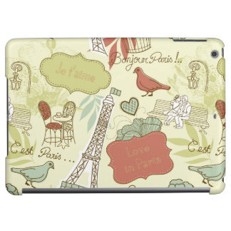 Love in Paris Pattern iPad Air Covers