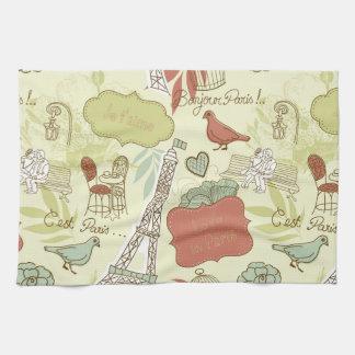 Love in Paris Pattern Kitchen Towels