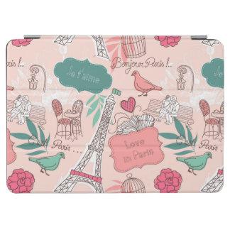 Love in Paris Pattern Pink iPad Air Cover