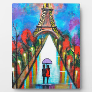 Love in Paris romantic giftart valentine special Plaque