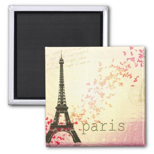 Love in Paris Square Magnet